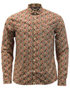 Manor PRETTY GREEN Mod Floral Penny Collar Shirt