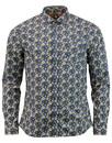 Manor PRETTY GREEN Mod Floral Penny Collar Shirt N