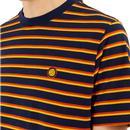 PRETTY GREEN Men's Retro Bold Multi Stripe Tee N