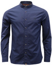 Oakwood PRETTY GREEN 60s Mod Grandad Collar Shirt