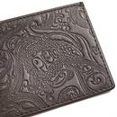 PRETTY GREEN Paisley Embossed Card Holder (Choc)
