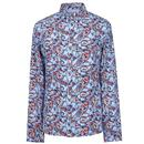 pretty green signature paisley shirt blue