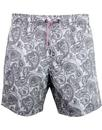 pretty green signature paisley swim shorts grey