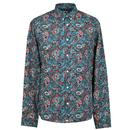 pretty green signature paisley shirt teal