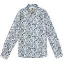 Paisley PRETTY GREEN 60s Slim Fit L/S Shirt Blue