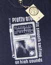 PRETTY GREEN Retro 60s Pirate Radio T-Shirt - Grey