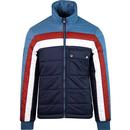 pretty green reversible quilted jacket blue