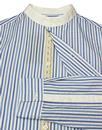 PRETTY GREEN Black Label Mod Stripe Kaftan Shirt