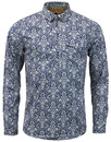 pretty green shirt navy mod