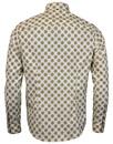 Riches PRETTY GREEN Retro Collar Geo Floral Shirt