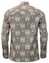 Wilshaw PRETTY GREEN 60s Mod Paisley Kaftan Shirt
