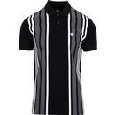 PRETTY GREEN Men's Mod Stripe Panel Pique Polo