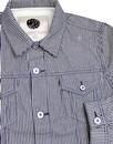 PRETTY GREEN 60's Denim Stripe Trucker Jacket