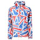 PRETTY GREEN Britpop Union Jack Overhead Jacket