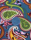 PRETTY GREEN 60's Mod Vintage Paisley Pique Polo