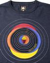 PRETTY GREEN Men's Retro Sixties Vinyl Graphic Tee