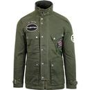 pretty green waxed cotton biker jacket khaki