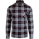 pretty green mens large check shirt long sleeve navy red white