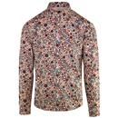 pretty green mens target print shirt long sleeve stone