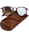 Aviator Round RAY-BAN Grey Flash Lens Sunglasses