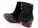 Venus Retro Seventies Glam Black Cuban Heel Boots