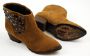 Jett Retro 70s Glam Cuban Heel Suede Stud Boots