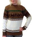 RETRO CHRISTMAS REINDEER JUMPER RETR 70s SWEATER