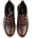 Clayton Retro Mod Smooth Leather Chukka Boots (O)