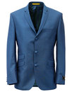 Retro 1960s Mod Mohair Blend 3 Button Suit Jacket
