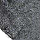 Tailored Mod Tweed Windowpane Check Dress Coat (G)