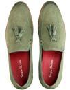 Rene SERGIO DULETTI Leather Tassel loafers GREY