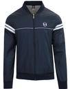 sergio tacchini orion retro 70s bomber jacket navy