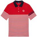 Cooper SERGIO TACCHINI Multi Stripe Pique Polo red