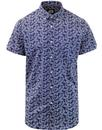SKA & SOUL Men's Retro Sixties Paisley Print Shirt