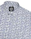 SKA & SOUL 1960s Mod Short Sleeve Paisley Shirt W