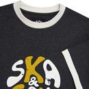 SKA & SOUL Retro Mod Distressed Logo Ringer Tee IM