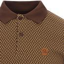 SKA & SOUL 60s Mod Herringbone Check Polo Top (C)
