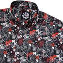 SKA & SOUL Retro 1960's Floral Paisley Mod Shirt