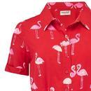 Abby SUGARHILL BRIGHTON Retro Flamingo Shirt Dress