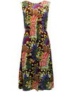 sugarhill boutique 60s mod peacock floral dress