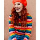 Rita SUGARHILL BRIGHTON Retro Striped 70s Jumper