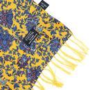 TOOTAL Antique Botanical Floral Print Silk Scarf G