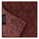 tootal scarves mens geometric leaf print rayon pocket square burgundy