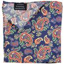 tootal retro mod silk pocket square navy