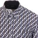 TOOTAL 1960s Mod Paisley Print Button Down Shirt