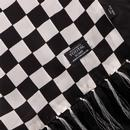 Tootal Scarf Retro Mod Black White Checkerboard