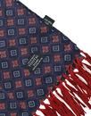 Tootal Scarves Retro Mod Tile Pattern Navy Scarf