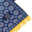 Tootal Wool Back Paisley Winter Scarf Blue