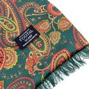Tootal Wool Back Paisley Winter Scarf Green