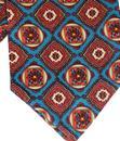 TOOTAL 1960s Mod Floral Mosaic Print Silk Cravat